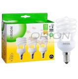 Lámpara ahorro de energía espiral de la luz de bulbo de CFL E27 B22 15W 20W 25W