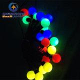크리스마스 다색 LED 공 끈 빛