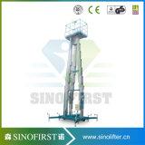 6m Één Platform van de Lift van de Mast van de Mens Enig Lucht Werkend voor Installatie