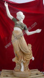 ダンサーの女の子の大理石の置物の石造りの切り分けるイタリアの彫刻のホテルの彫像(SY-X1149)