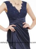Сексуальное безрукавный платье вечера Mermaid длины пола V-Шеи шнурка