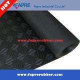 Pavimento de borracha antiderrapante cinza de 3mm usado para portas e calçadas