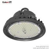 Éclairage LED élevé imperméable à l'eau 150W d'UFO de compartiment des bons prix avec le support de plafond de mur de bride
