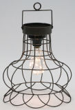 標準的で装飾的な円形の金属のランタンW/LEDの電球