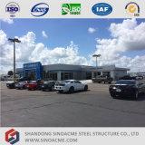 Negozio prefabbricato del commerciante di automobile della struttura d'acciaio