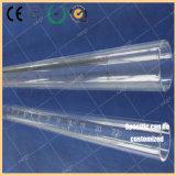 Le tube d'échelle de quartz frottent la résistance de la corrosion de température élevée de tube de quartz d'impression d'échelle et la transparence élevée