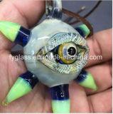Colgante de cristal de ojos colgante tubo de vidrio colgante azul para glasspipe Bowl Estados Unidos color al por mayor