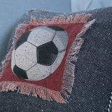Met de hand gemaakt Decoratief Kussen/Hoofdkussen met het Patroon van de Bal van de Sport (mx-48)