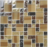 Crystal Crepitação Mosaic usado na parede, pintados na parede do mosaico da fronteira, Rachada Mosaico de vidro (348 FH07)