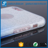 Cas de luxe de la couleur TPU de gradient de poudre de scintillement pour la couverture de bord de la galaxie S6 de Samsung