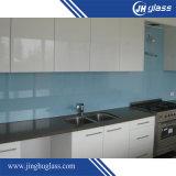 Vidro envernizado pintado de brilho azul para a mobília