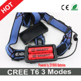 Один установленный Headlamp LED+Charger+Batteries CREE T6