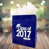 Recyclé sacs-cadeaux en papier de luxe avec du papier couché brillant de la poignée de pliage sac de papier personnalisés, Shopping sac de papier Logo d'impression, parti sac cadeau de papier.