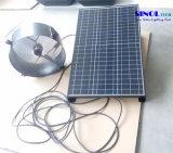 14インチ25Wの壁の台紙の35W 9.6ah電池システム- 24時間のが付いている太陽アチックファンノンストップ働き(SN2015013)
