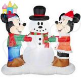 Airblown LED Lighted Mickey et Snowman Scene