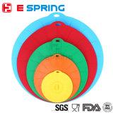 I coperchi della ciotola del silicone hanno impostato di 5 coperchi di guarnizione riutilizzabili di aspirazione per le ciotole, i POT, tazze. Cassaforte dell'alimento