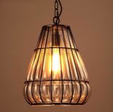 MetallLanterms hängende Lampe mit Glasfarbton-Innere (WHP-9904)