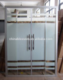 Двери ливня сползая стекла фабрики Ханчжоу сразу с Toughened защитным стеклом