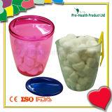 Esterilizar la bola de algodón con dispensador de plástico