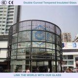 Doppeltes gebogenes ausgeglichenes glasierendes Isolierglas für Gebäude