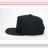 шлемы Snapback вышивки 3D с кожаный Brim