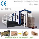 Zj1300ts Machine automatique de découpe et de triage à plat pour couper du papier carton ondulé