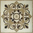 Het natuurlijke Patroon van het Mozaïek van het Inlegsel van het Medaillon van de Straal van het Water van de Steen Marmeren