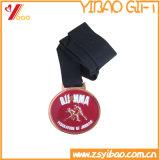 Promoção medalha de ouro com impressão em preto Corda (YB-LY-B-11)