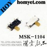제조자 SMD 활주 스위치 4pin 토글 스위치 (msk-1104)