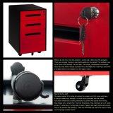 5 rotelle rosse e basamento nero del Mobile del cassetto di colore 3