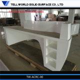 Дуга сформировала конструкцию переднего счетчика офиса стола приема лоска белую самомоднейшую
