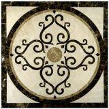 물 분출 꿀 빗 대리석 큰 메달/대리석 패턴 모자이크
