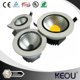 ÉPI LED Downlight de morceau de la taille 70mm 6watt/7watt Bridgelux de coupe-circuit