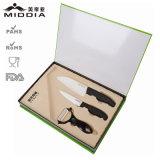 Нож Kitchenware керамический установленный для плодоовощ/ножа и Peeler шеф-повара