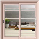 Хорошая раздвижная дверь двойной застеклять конструкции алюминиевая для мастерской спальни