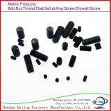 Kontaktbuchse-Einstellschrauben des Hexagon-DIN913 mit Falt Punkt-Ebenen-Schwarz-Kohlenstoffstahl
