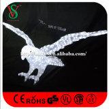 luzes do motivo da escultura da águia 3D