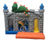 Combinato gonfiabile del castello del dinosauro