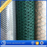 Treillis métallique hexagonal enduit galvanisée et de PVC avec le prix usine