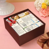 Caixa de presente fina do papel de negócio, caixa de presente quadrada para o casamento e celebração do aniversário, caixa de presente creativa