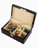 Contenitore di regalo impaccante degli alti di lucentezza dell'ebano del piano monili di legno di rivestimento