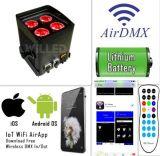 WiFi制御Samrtphone制御4X10W 5in1 Rgbaw LEDsはライトを防水する