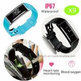 심박수 (X9)를 가진 Bluetooth 방수 지능적인 팔찌