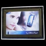 最新のアクリルの水晶写真フレームLEDのライトボックス(A3 A4)