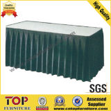 Cheap Stacking Dining Wedding Hotel Classy Polyester Banquet Table Skirt
