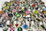 Laufkatze-Münze Keychain mit 3-Sided, das, verschiedene Größen poliert, sind erhältlich, gebildet von der Zink-Legierung