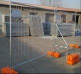 Cerca provisória portátil material galvanizada do frame do metal com cinta (fábrica)