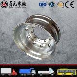 A roda de alumínio forjada do caminhão da liga do magnésio orlara o Mão-Furo trapezoidalmente (8.25*22.5)