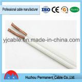 fio elétrico paralelo transparente do cabo do altofalante 1.5mm2, o vermelho e o preto