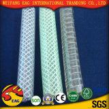 Boyau de tissu-renforcé hydraulique à haute pression en plastique de PVC